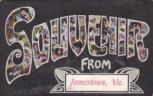 JAMESTOWN, Virginia, 1900-1910s; Large Letters SOUVENIR