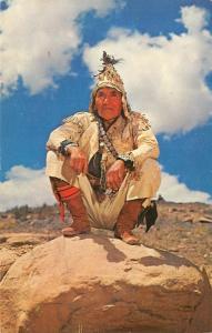 Native Americana 102 YEAR OLD LEFTY MANY GOATS San Carlos Apache Indian Chrome