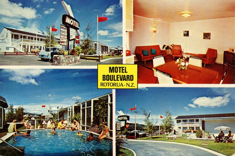 New Zealand - Rotorua. Motel Boulevard and Restaurant