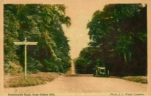 Kenilworth Road from Gibbet Hill Vintage Car Street Postcard