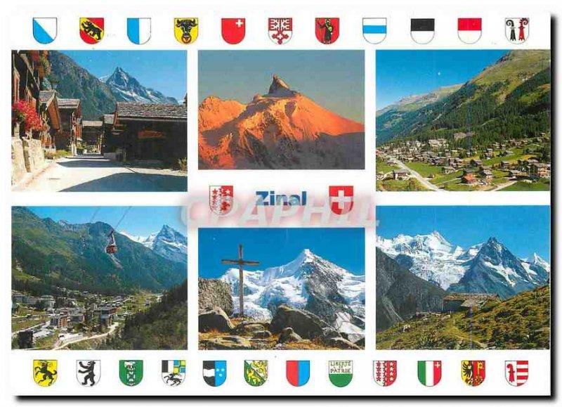 Postcard Modern Zinal Val d'Anniviers Valais