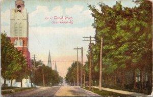 Owensboro KY East Fourth Street Unused Postcard G28