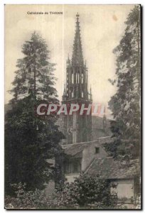 Thann - The Cathedral - Old Postcard