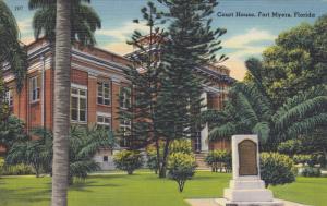 FORT MYERS, Florida, 1930-1940's; Court House, Garden