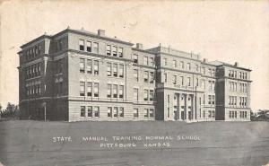 Pittsburg Kansas State Manual Training Normal School Antique Postcard K46472