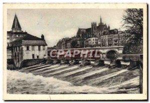 Old Postcard Metz Barrage De La Pucelle And Middle Bridge