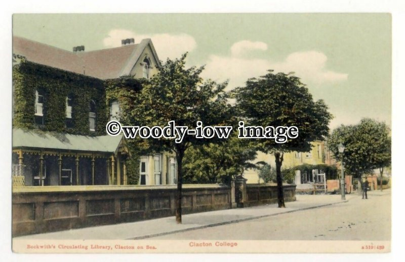 tq2647 - Essex - Clacton College ( Beckwiths Library) Clacton-on-Sea - Postcard