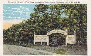 Wisconsin Kilbourn Entrance Riverview Free Camp Grounds On State Trunk Highways