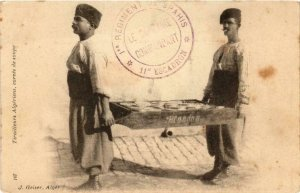 CPA AK Geiser 107, Tirailleurs Algériens, corvee de soupe. ALGERIE (769455)
