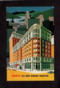ON King Edward Sheraton Hotel Toronto Canada Carte Postale Postcard