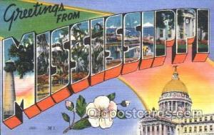 Mississippi, USA Large Letter State States Postcard Postcards  Mississippi, USA