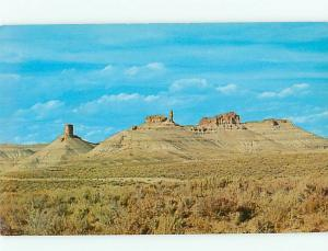 Vintage Post Card Chimney Big Firehole Rock Springs  Green  Wyoming   # 4405