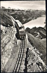 switzerland, Brienz Rothorn Bahn Rack Railway, Brienzersee (1952) RPPC