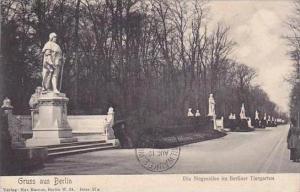 Germany Berlin Gruss Aus 1908 Siegesallee im Berliner Tiergarten