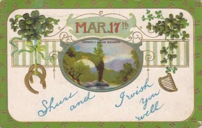 Saint Patrick's Day With Cromwell's Bridge Glengariff 1913