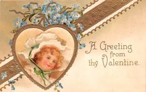 Valentines Day Post Card Old Vintage Antique Postcard 1909