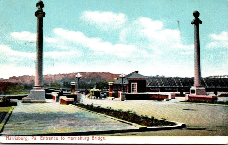 Pennsylvania Harrisburg Entrance To Harrisburg Bridge 1907
