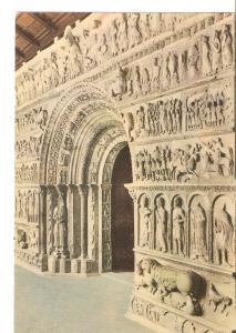 Postal 048647 : Ripoll. Portada del Monasterio de Santa Maria de Ripoll