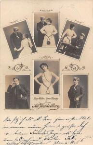 Theatre Actors Harry Walden Leonie Taliansky Alt. Old Heidelberg play 1902 postc