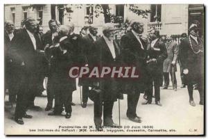 Old Postcard Funerals M Chauchard Intimate Loubet Leygues Jousselin Calmette