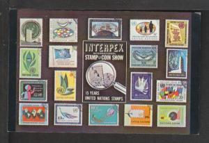 Stamps,Interpex Postcard