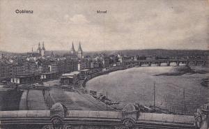 Bird´s Eye View of Mosel, Coblenz, Rhineland-Palatinate, Germany, 10-20s