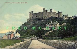 1910 Wales Postcard: Harlech Castle From the South