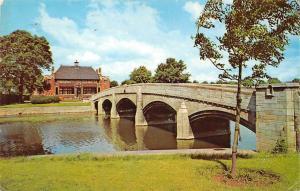 Bridge and Pavilion Abbey Park, Leicester pont bruecke 1970