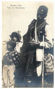 Mazedonien  Serbien, Father, Two Children, Native Clothing