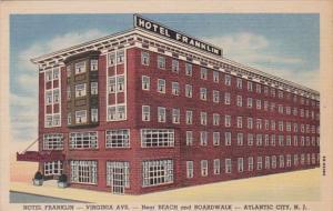 New Jersey Atlantic City Hotel Franklin Curteich