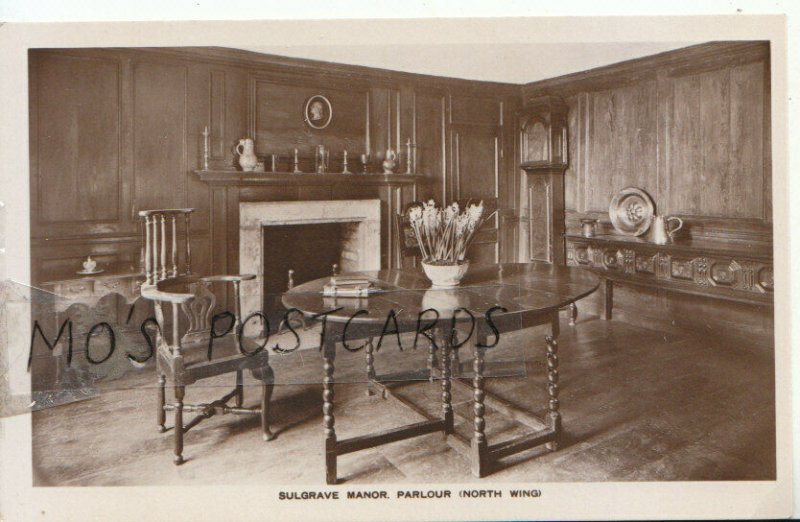 Northamptonshire Postcard - Sulgrave Manor - Parlour (North Wing) - Ref 16092A