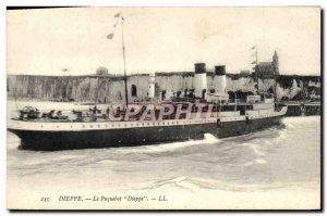 Postcard Old Ship Boat Dieppe Dieppe