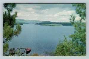 Deux Rivieres Ont- Ontario, Beautiful Ottawa River, Chrome Postcard
