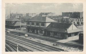C. P. R. Train Depot, Railroad Tracks, North Bay, Ontario, Canada, 1910s Ver-2