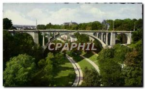 Old Postcard Luxembourg Adolphe Bridge