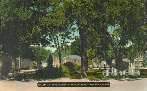 Graceman Auto court & Trailer Park Twin Falls Idaho ID Linen