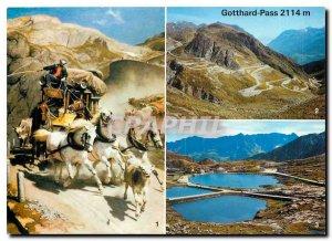 Postcard Modern Gotthard Pass 2114 m