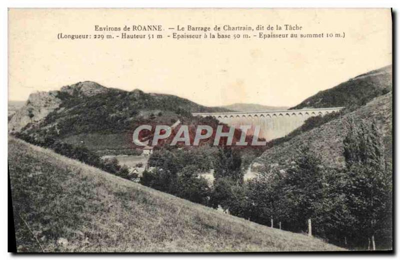 Old Postcard From Around Roanne Dam De Chartres said the spot