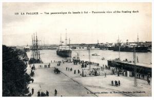 18657  France La Pallice 1904 Aerial View of Floating Docks