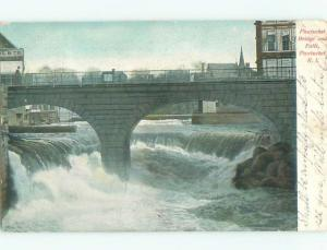Pre-1907 BRIDGE OVER THE FALLS Pawtucket Rhode Island RI n6056