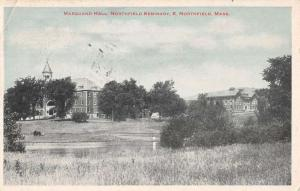 Northfield Massachusetts Seminary Marquand Hall Antique Postcard K94677