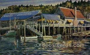 Brown Brothers Shore Dinner, Boothbay Harbor, ME USA Restaurant Old Vintage A...