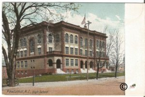 Pawtucket Road Island High School 1900-1906 Undivided Back Postcard