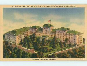 Unused Linen EASTMAN HOTEL Hot Springs National Park Arkansas AR u7638