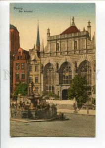 271087 POLAND DANZIG Gdansk Artushof Vintage postcard
