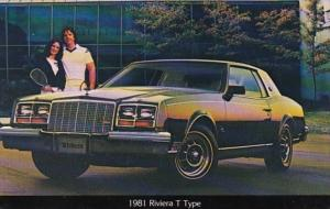 Advertising 1981 Buick Riviera T Type