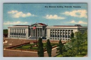 Nashville TN-Tennessee, War Memorial Building, Linen Postcard