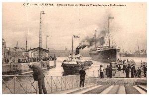 Le Harve sortie de Bassin de l'Eure de Transatantique e Rochanbeau