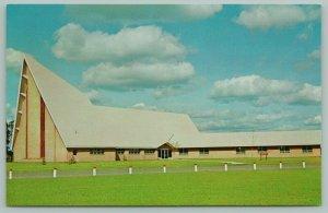 Hayward Wisconsin~First Lutheran Church~c1950~Chrome Postcard