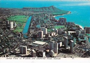 Hawaii Waikiki and Diamond Head Aerial VIew 1976